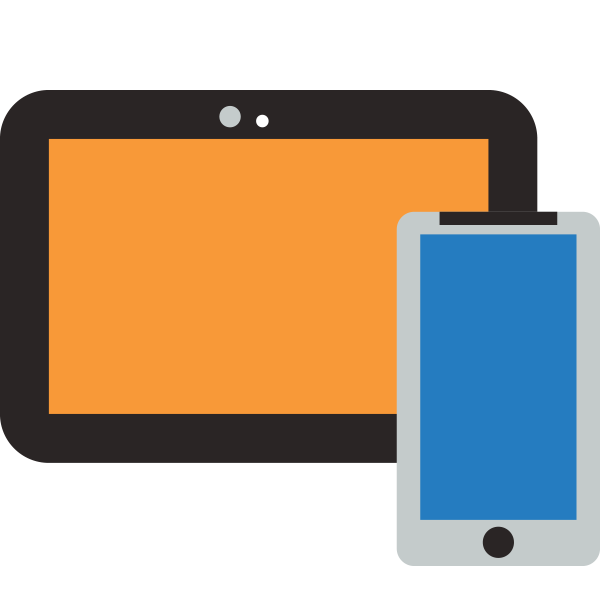Mobile phone and tablet icon